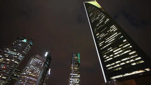 modern urban skyscrapers,shanghai pudong economic center... Stock Video Footage