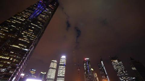 modern urban skyscrapers,shanghai lujiazui economic... Stock Video Footage