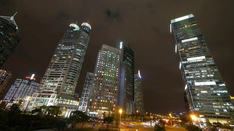 time lapse urban traffic at night,Brightly lit shanghai... Stock Video Footage