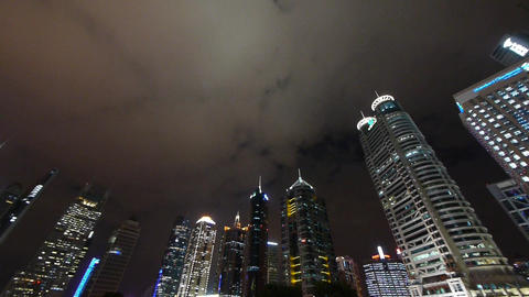 urban building,shanghai pudong business center &... Stock Video Footage