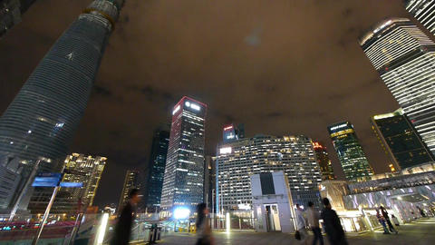 panoramic of urban building,shanghai pudong business... Stock Video Footage