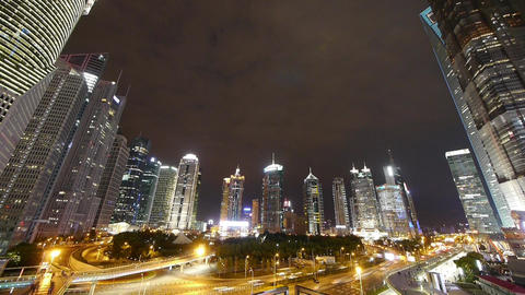 timelapse,urban traffic & walking people silhouette... Stock Video Footage