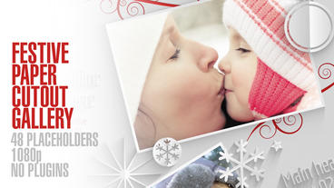 Festive Paper Cutouts Gallery After Effects Templates