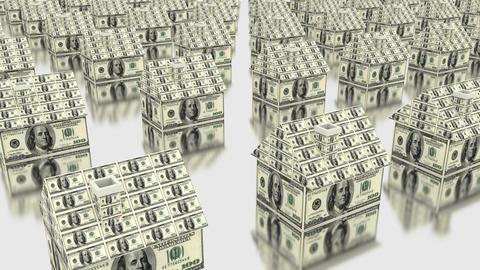 House dollars money Stock Video Footage