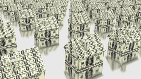 House Dollars Money stock footage