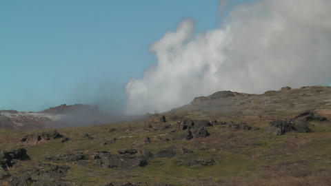 geothermal area at snaefellsjoekull national park Stock Video Footage