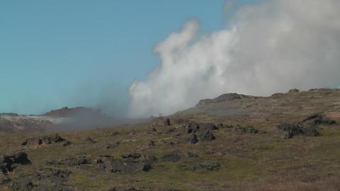 geothermal area at snaefellsjoekull national park Stock Video Footage