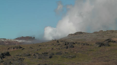 geothermal area at snaefellsjoekull national park  Footage