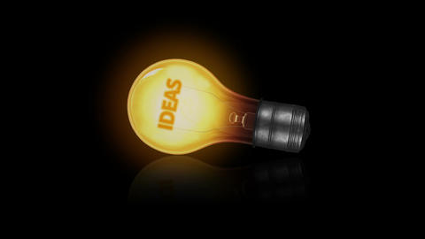 Ideas Light bulb Stock Video Footage