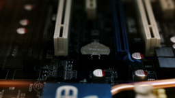 Computer Motherboard Stock Video Footage