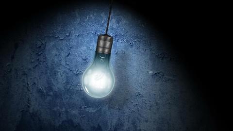 Flickering Light Bulb Stock Video Footage