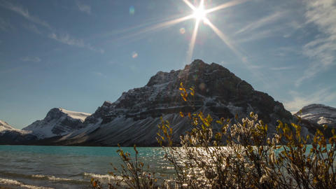 Motion dolly shot of Bow Lake Stock Video Footage