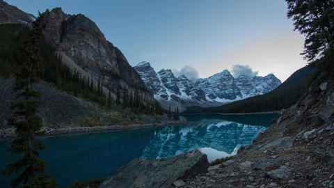 Twilight at Moranie lake, Banff National Park Footage