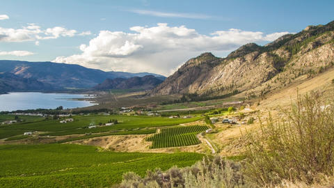 Cloudy day at the Osoyoos Footage