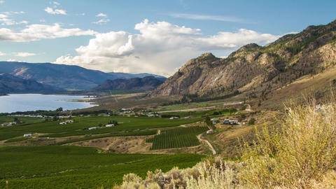 Cloudy day at the Osoyoos Stock Video Footage