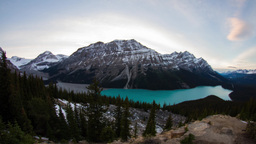 Peyto Lake day to night time lapse Footage