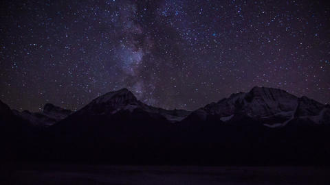 Night With Milky Way stock footage