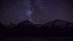 Night with Milky way Stock Video Footage