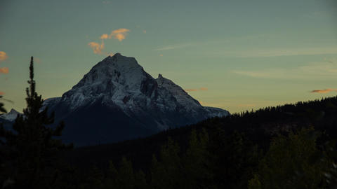 Sunset light shinning on Mountain clip 05 Stock Video Footage