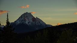 Sunset light shinning on Mountain clip 05 Footage