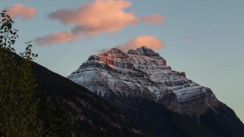 Sunset light shinning on Mountain clip 01 Stock Video Footage