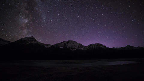 Milky way at Jasper National Park Stock Video Footage