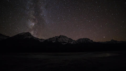 Milky way at Jasper National Park Stock Video Footage