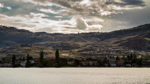 Cloudy afternoon at Osoyoos lake Stock Video Footage