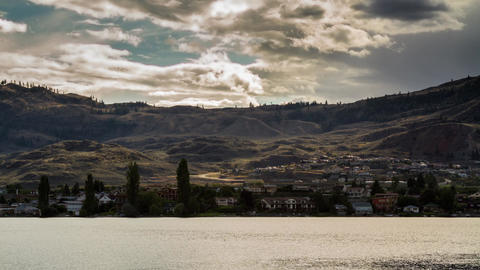 Cloudy afternoon at Osoyoos lake Footage