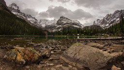 Lake O'Hara evening Stock Video Footage