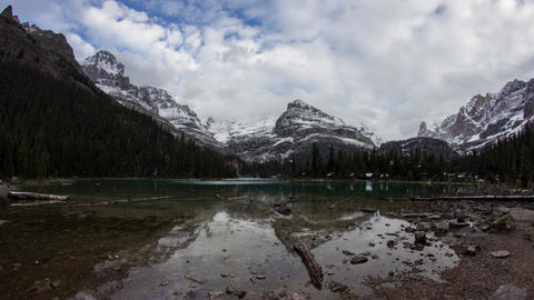 Cloudy day at Lake O'Hara Footage