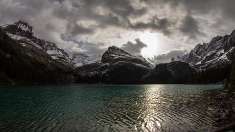 Cloudy morning at Lake O'Hara Footage
