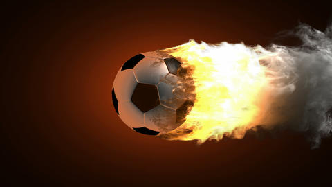 burning soccer ball Stock Video Footage