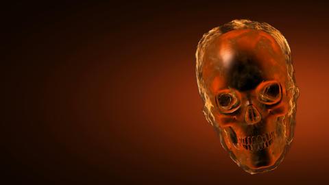 burning skull. Alpha matted Stock Video Footage