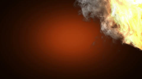 Burning Tennis Ball. Alpha Matted stock footage
