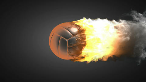 burning volleyball ball Stock Video Footage