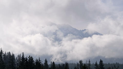Mountains in the clouds Stock Video Footage