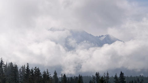 Mountains In The Clouds stock footage