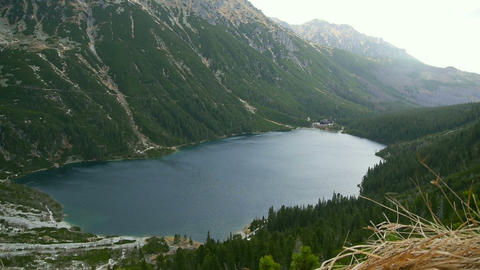Lake in high mountains Stock Video Footage