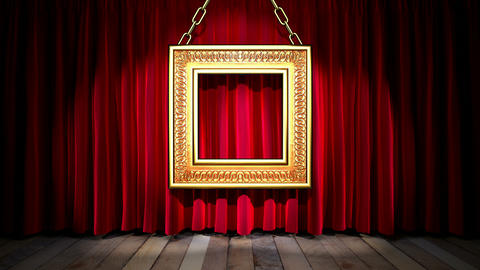 Loop light on red fabric curtain Stock Video Footage