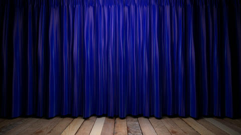 Loop light on blue fabric curtain Animation