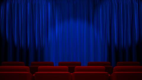 Loop light on blue fabric curtain Stock Video Footage