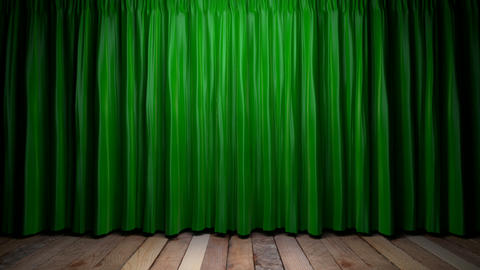 Loop light on green fabric curtain Animation