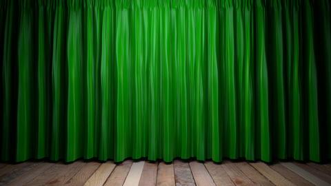 Loop light on green fabric curtain Stock Video Footage