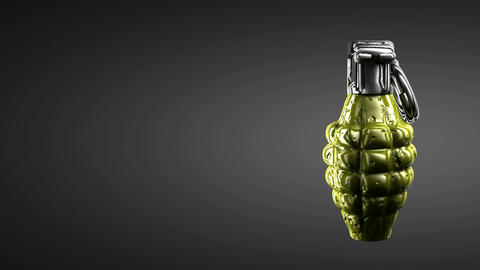 Loop rotating grenade. Alpha matted Animation