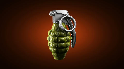 Loop rotating grenade. Alpha matted Stock Video Footage