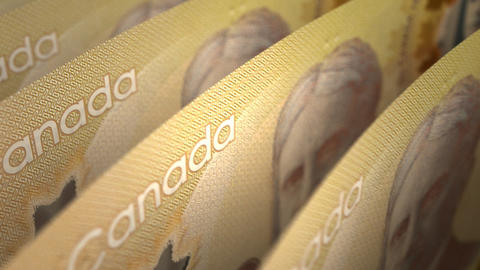 Canadian Dollar Close-up Stock Video Footage