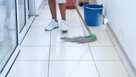 Mopping the floor Footage