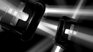 Modern futuristic sci-fi abstract light art,Cross  Animation
