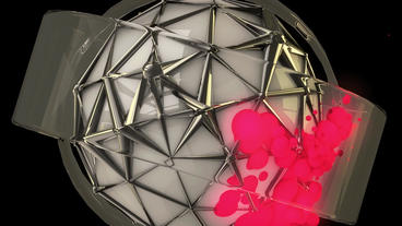 sci-fi ribbon surround metal tech digital ball & f Animation